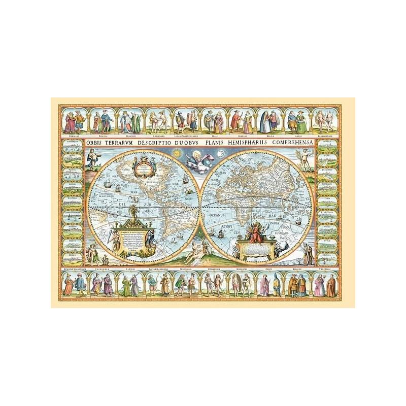 Mapa světa z roku 1639