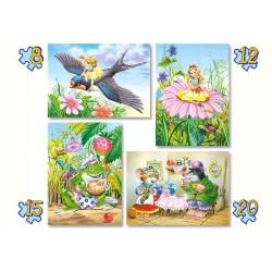 Puzzle sada 4v1 - Princezna Malenka